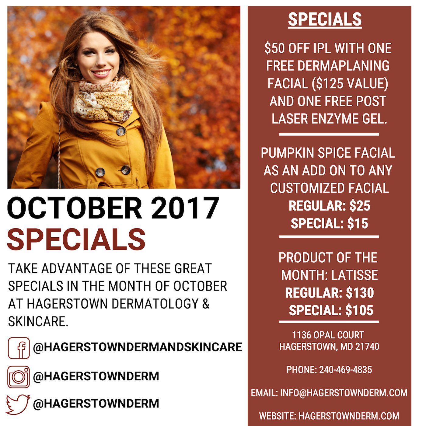 Hagertown Derm October Specials